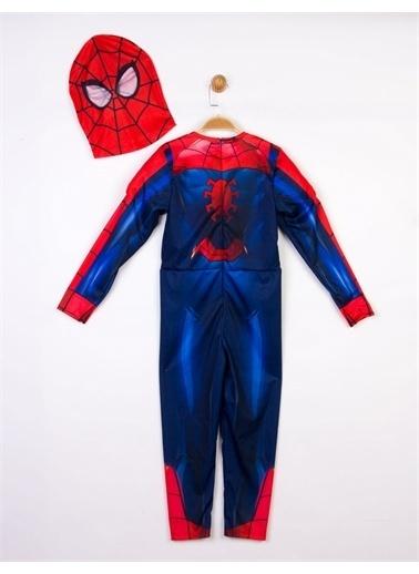 Spider-Man  Çocuk Kaslı Kostüm 18180 Kırmızı